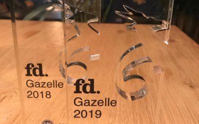 Vrij! wederom benoemd tot FD Gazelle in 2019!